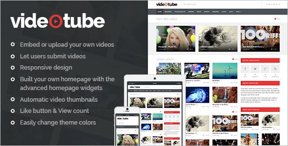 Video tube WordPress Template