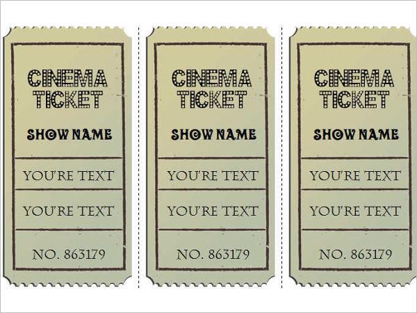 Vintage Movie Ticket Template Word