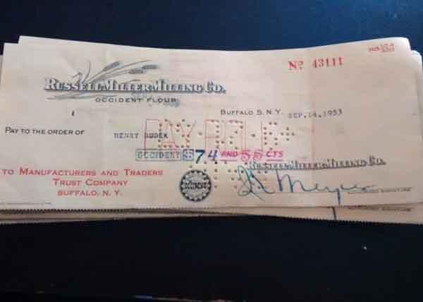 Vintage Pay-stub x3