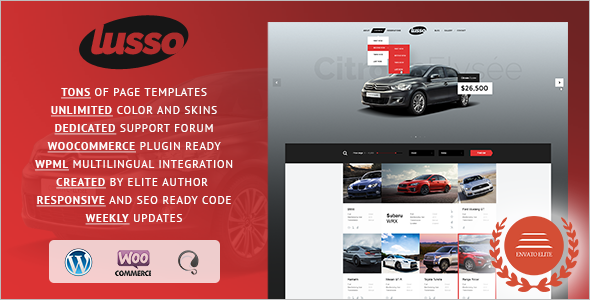 Visual Automotive WordPress Template