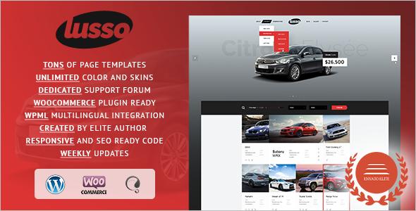 Visual Automotive WordPress Template