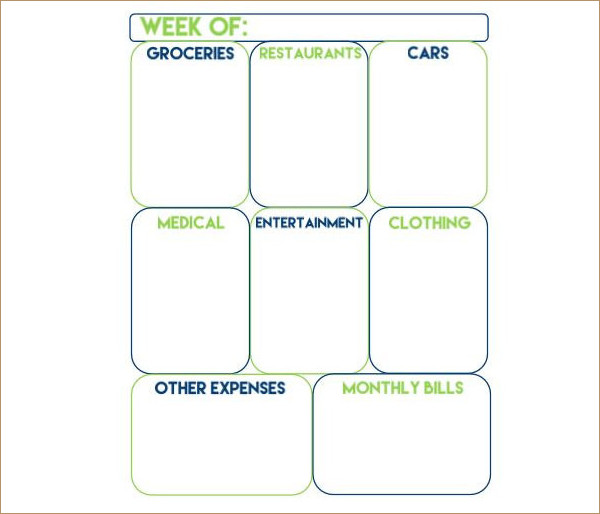 Weekly Expense Tracker Template