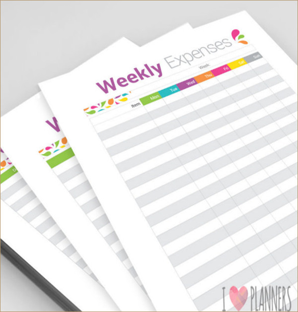 Weekly Expenses Sheet Budget Template