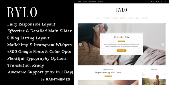 WordPress Blog Model Template