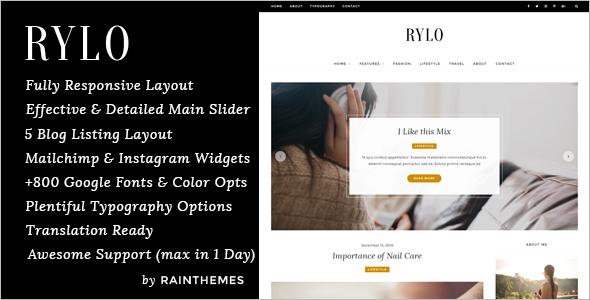 WordPress Blog Model Template