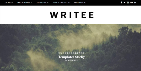 Writee Blog WordPress Template