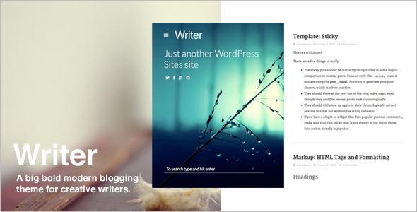 Writer Blod WordPress Template