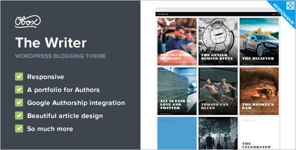 Writer Portfolio WordPress Template