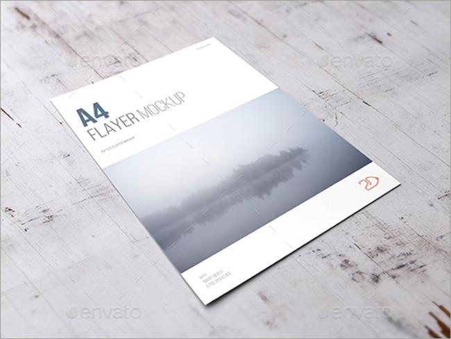 a4 flyer mockups