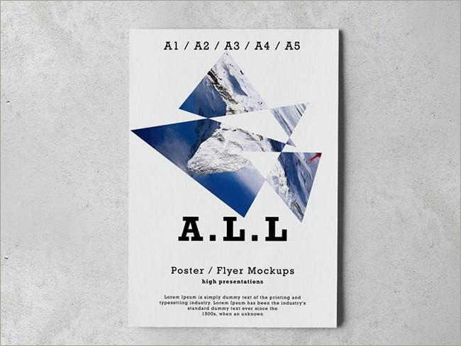 a4 hd flyer mockup