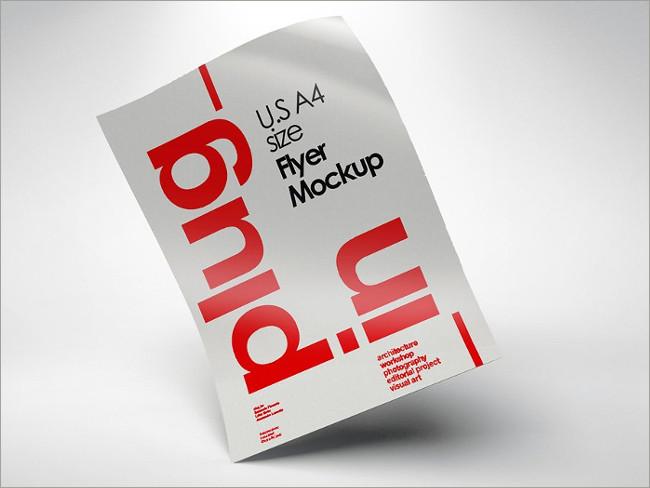 a4 sample flyer mockup