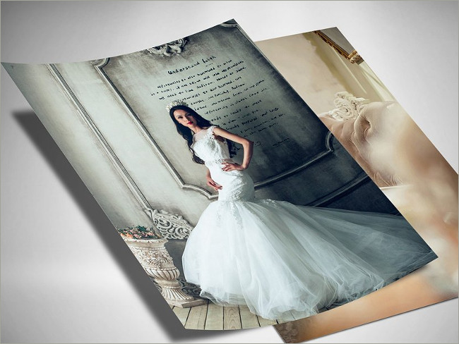 a4 wedding flyer mockup