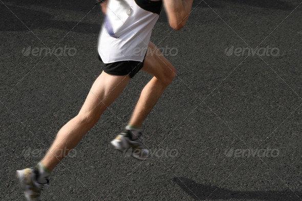 athlete running a marathon