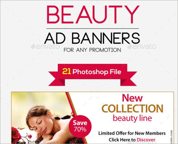 beauty add banners