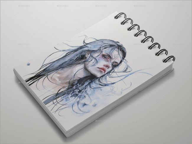 best sketch bookmockup