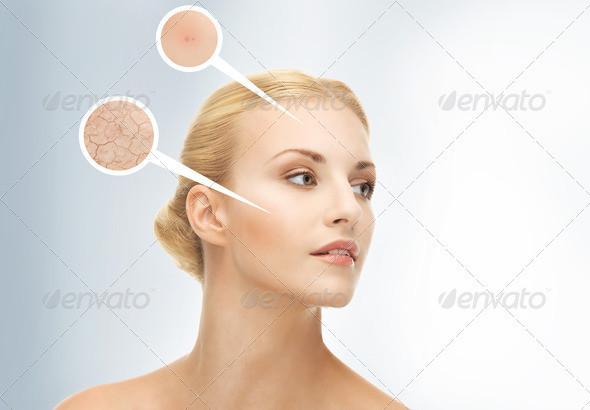 bright closeup portrait picture of beautiful woman image