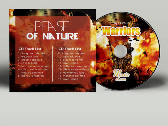 cd cover psd template