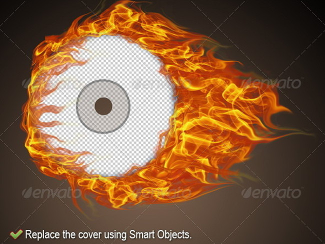 cd cover smart object mockup