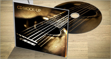 CD DVD Cover Mockups PSD