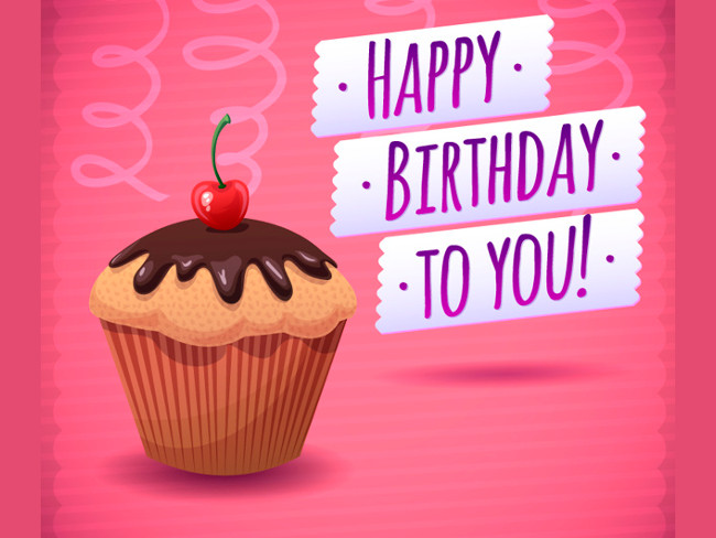 cup cake birthday wall paper