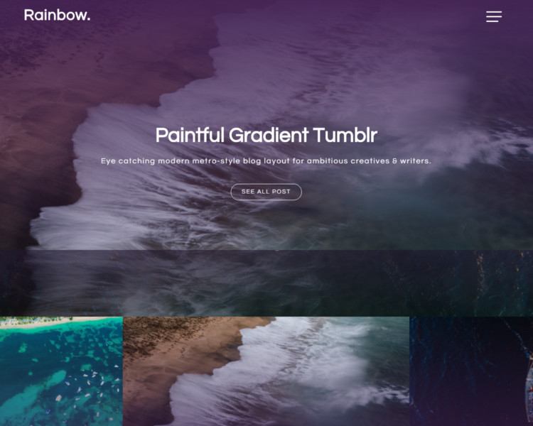 dark tumblr theme