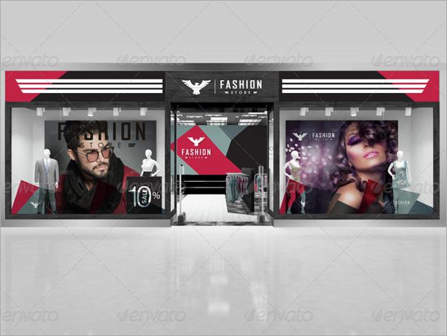 fashion store mockup