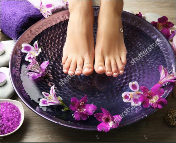 female feet spa