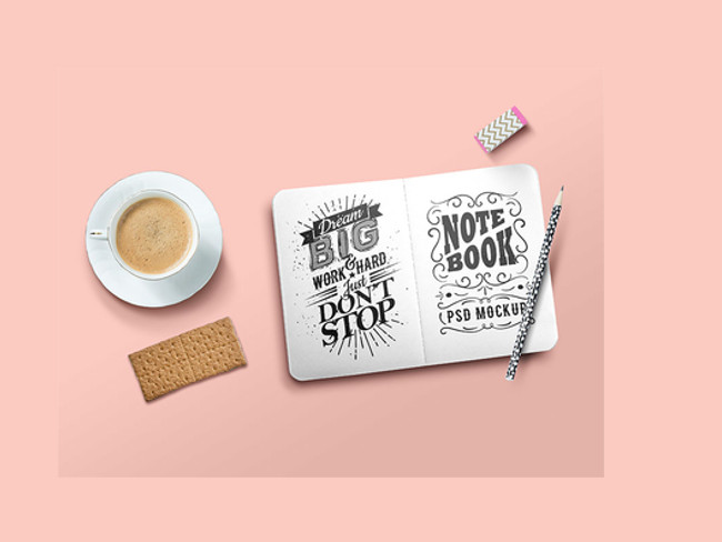 free psd sketch book mockup
