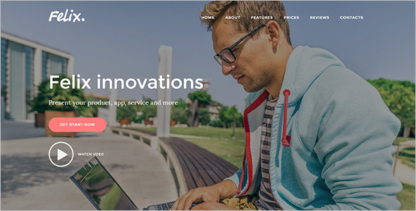 full screen joomla landing page theme