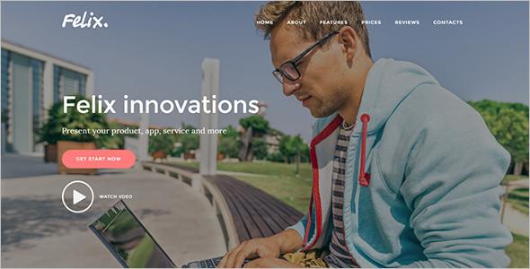 full screen joomla landing page theme