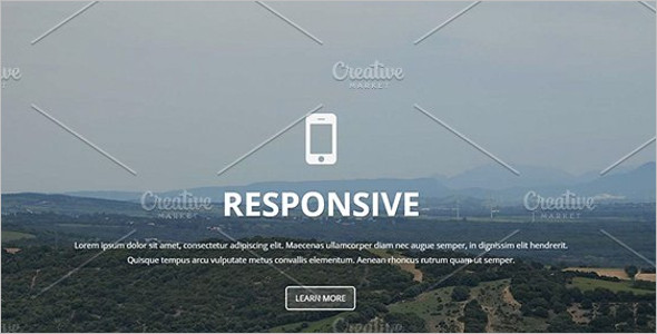 full screen landing page theme