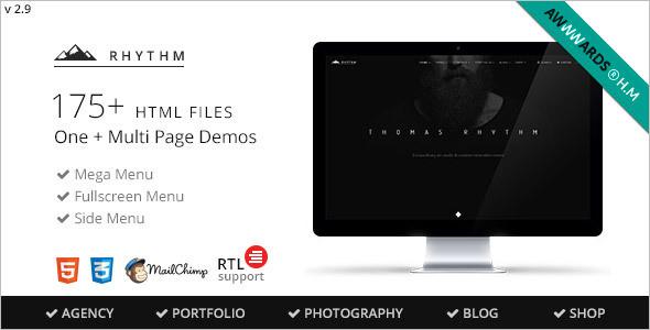 full screen site template
