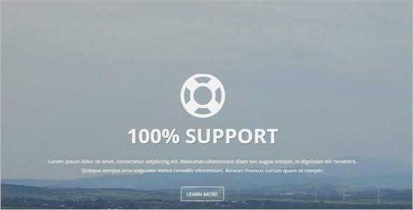 full screen site theme