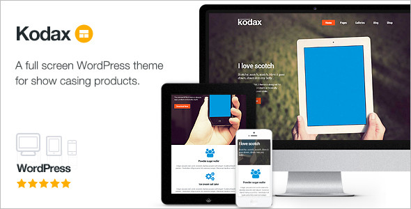 full screen wordpress template