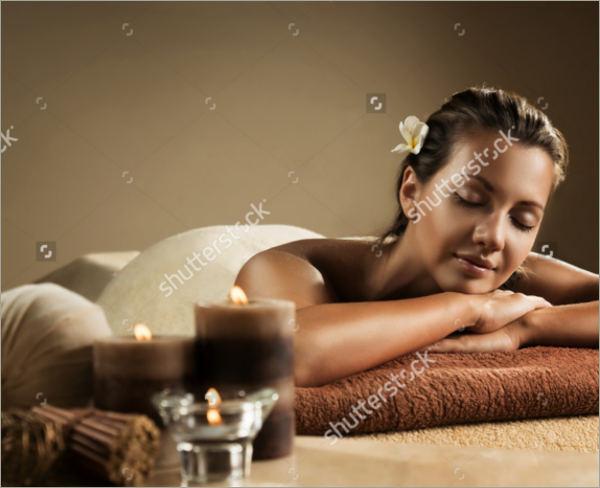 girl relaxes at spa salon