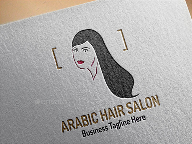 hair salon logo mockup