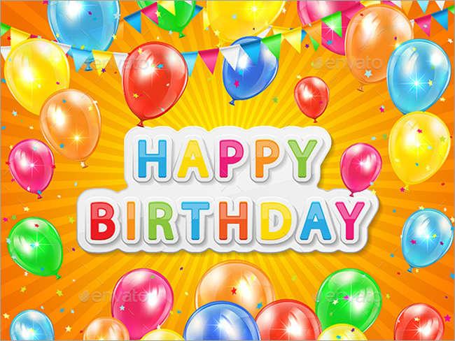 happy birth day poster