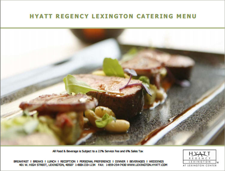 hayt catering menu