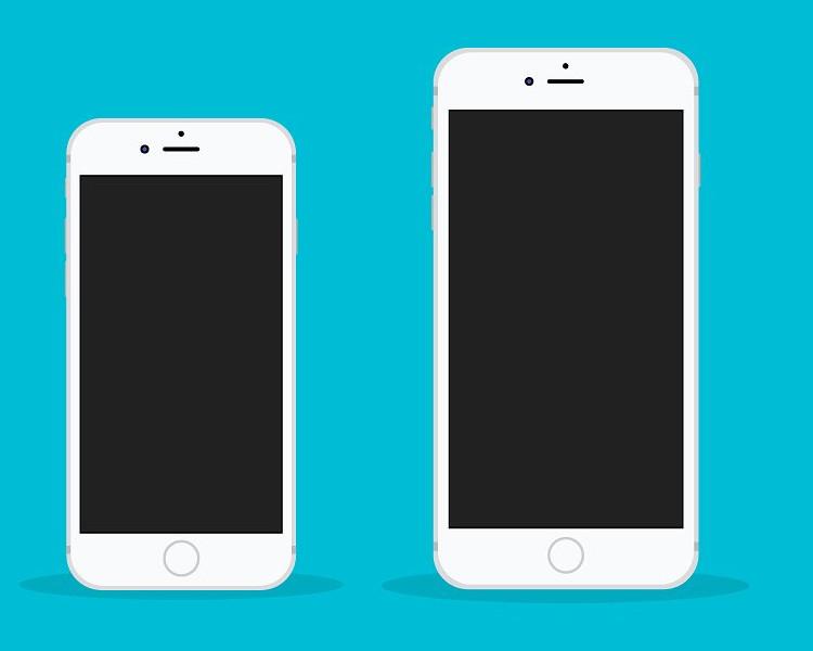 iPhone 6s Plus Flat Mockup