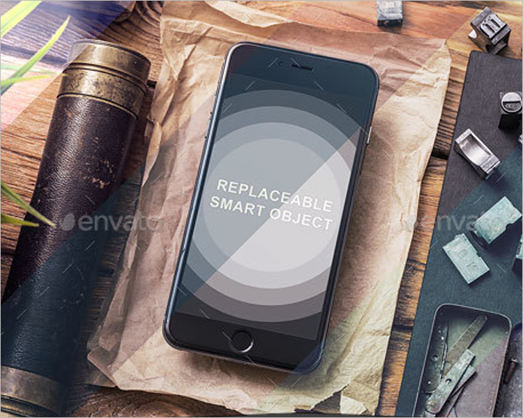 iPhone 6s Plus Mockup Set Design