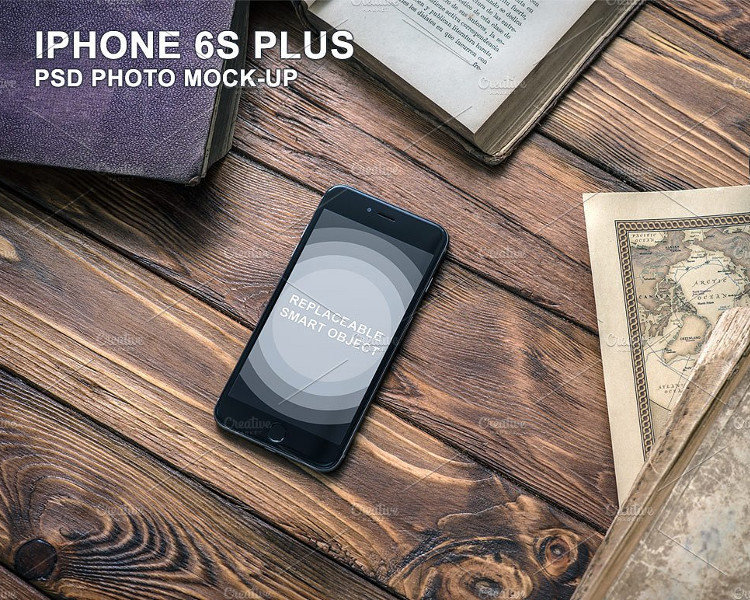 iPhone 6s Plus PSD Mockup