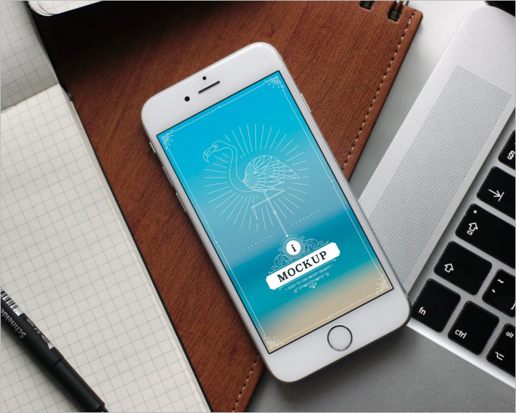 iPhone 6s Plus work Place Mockup