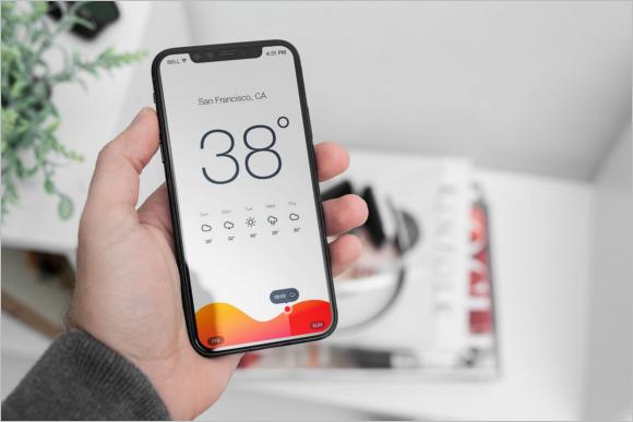iPhone Display Mockup Design