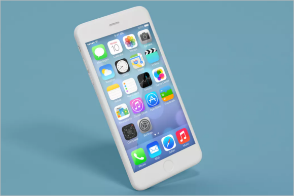 iPhone Mockup Vector Design