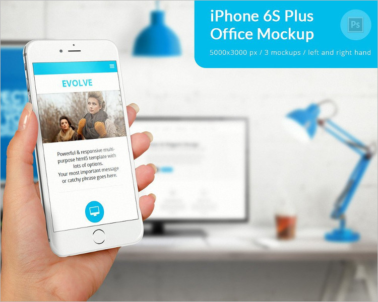 iphone 6s Plus Business Mockup