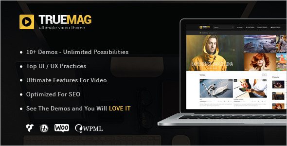 magazine video WordPress template