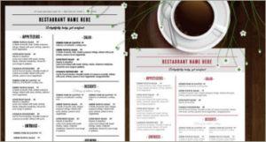 menu templates image