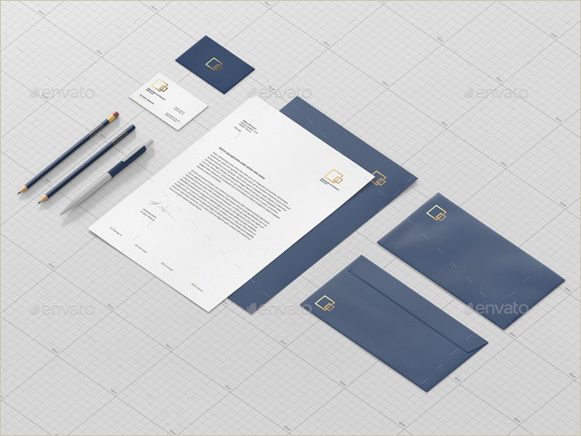 pencil and stationary mockup