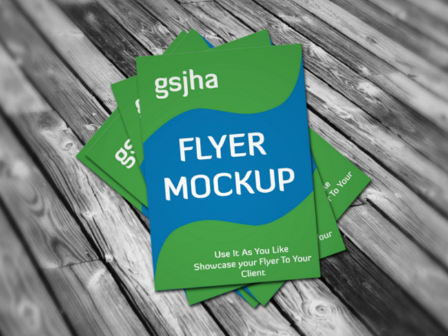 photorealistic a4 flyer mockup