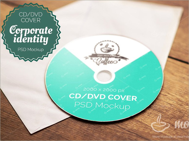 photorealistic cd cover mockup
